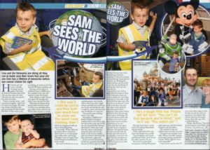 New Idea Article - Sam sees the World (May 2007)