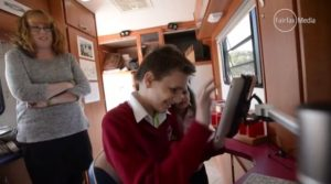 San in the Insight Mobile Classroom (April 2015)